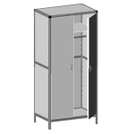 Шкаф лабораторный для одежды ШК01