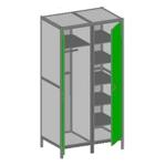 Шкаф лабораторный для одежды ШОК-Л-01 Лавкор